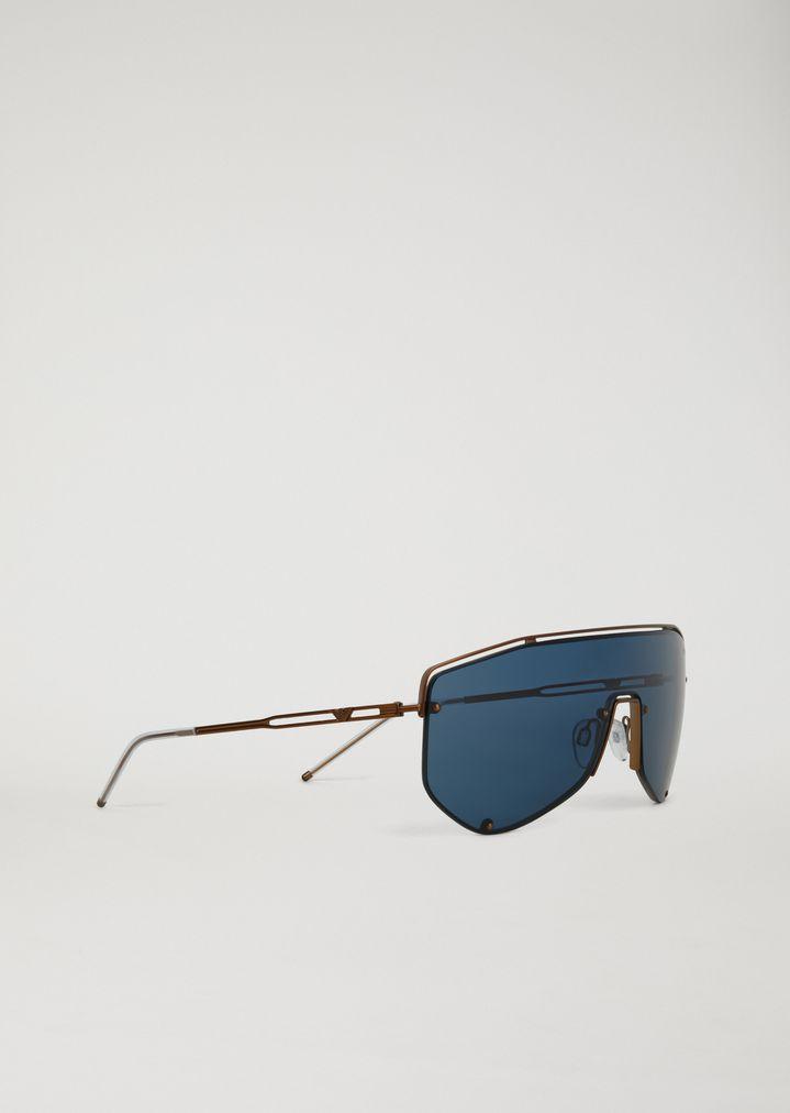 84e845f8ef9409 Lunettes de soleil Catwalk Man avec verres masque   Homme   Emporio Armani