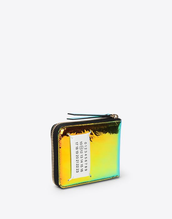 MAISON MARGIELA Reflective multicolor leather wallet Wallet [*** pickupInStoreShipping_info ***] r