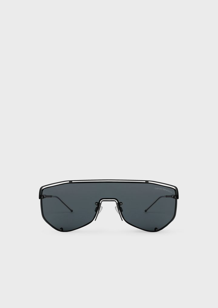 856183fda0ab Catwalk Man sunglasses with mask-style lenses | Man | Emporio Armani