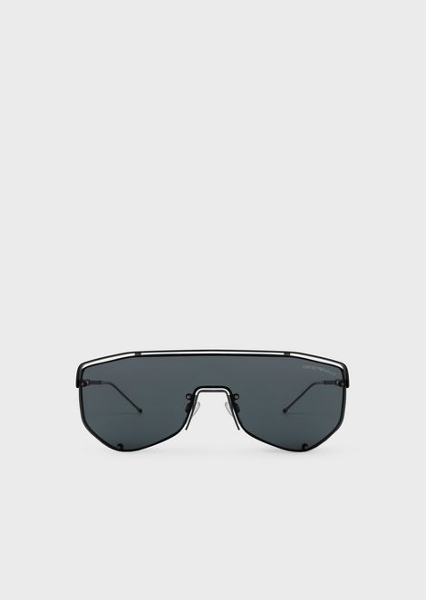 9050681836c Catwalk Man sunglasses with mask-style lens