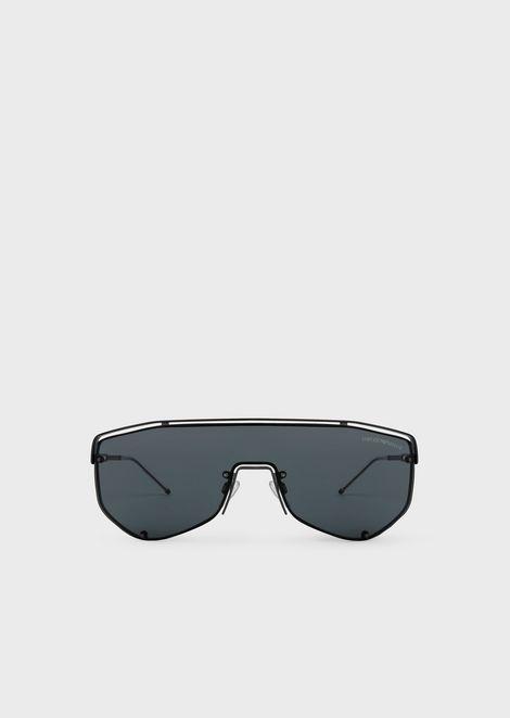 3d507b4d01e1 Catwalk Man sunglasses with mask-style lens