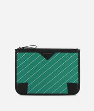 KARL LAGERFELD K/Stripe Logo Small Pouch  9_f