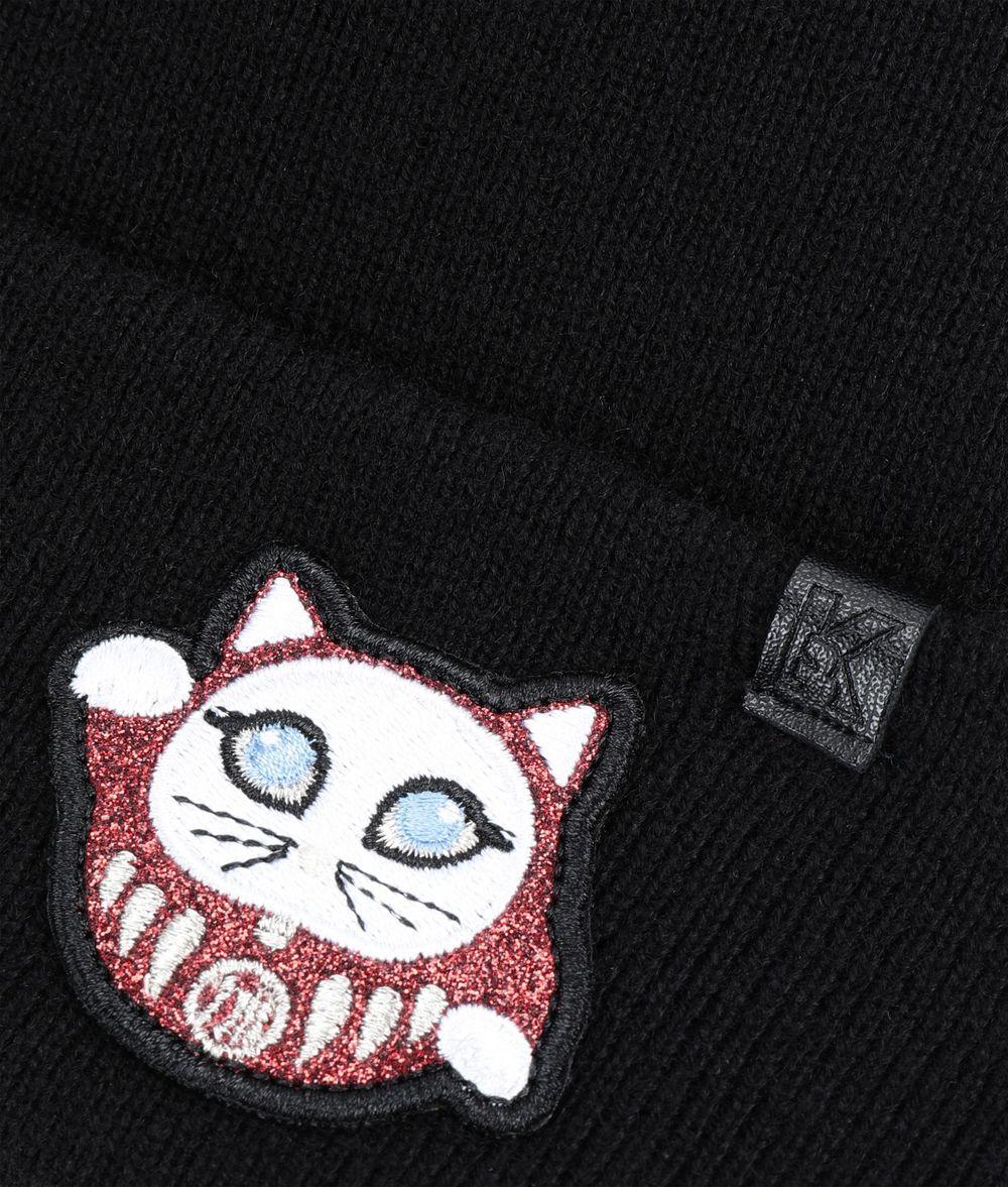 KARL LAGERFELD K/Tokyo Pompom Beanie Hat Woman d