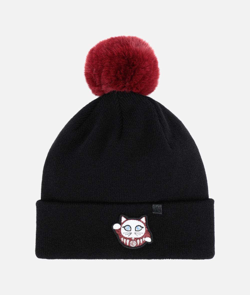 KARL LAGERFELD K/Tokyo Pompom Beanie Hat Woman f