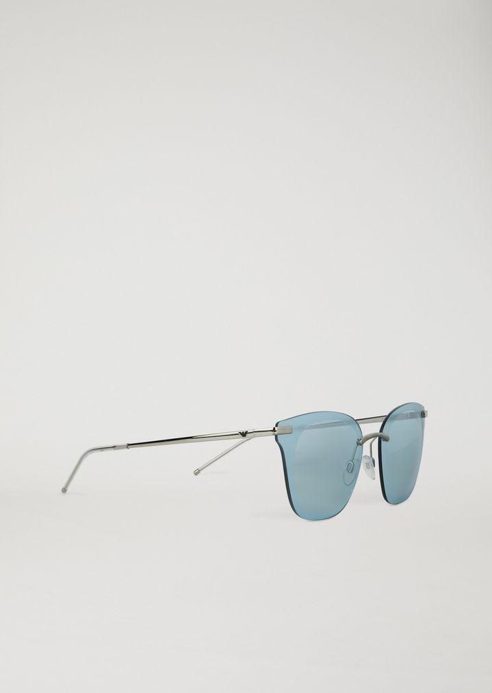 48475f8c1f Gafas de sol Open Wire con montura al aire | Mujer | Emporio Armani