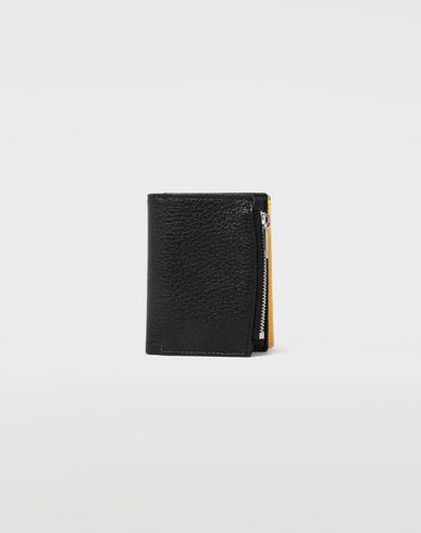 MAISON MARGIELA Portefeuille [*** pickupInStoreShippingNotGuaranteed_info ***] Petit portefeuille en cuir à deuxvolets f