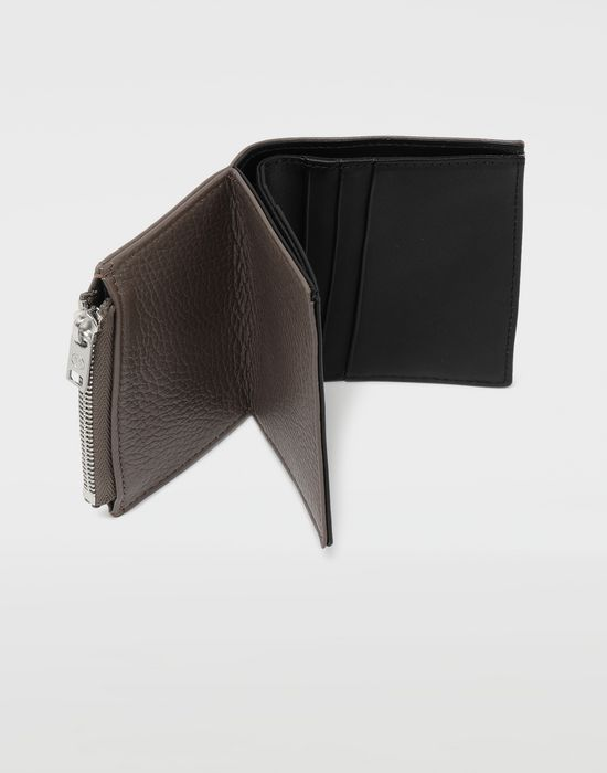 MAISON MARGIELA Small double fold leather wallet Wallets [*** pickupInStoreShippingNotGuaranteed_info ***] a