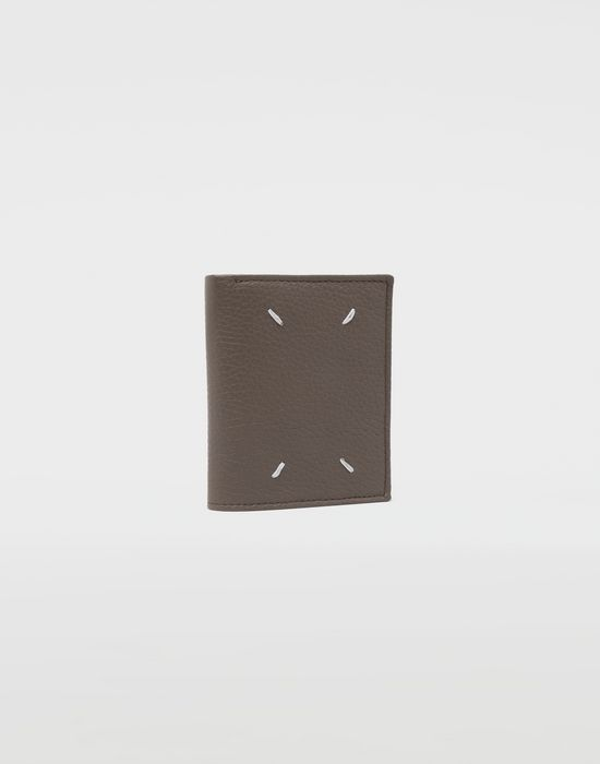 MAISON MARGIELA Small double fold leather wallet Wallets [*** pickupInStoreShippingNotGuaranteed_info ***] r