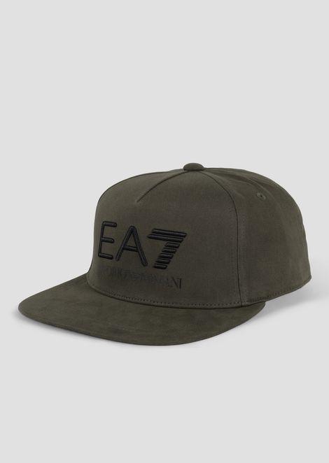 Baseball cap with flat peak and EA7 logo cecd280b3ec0