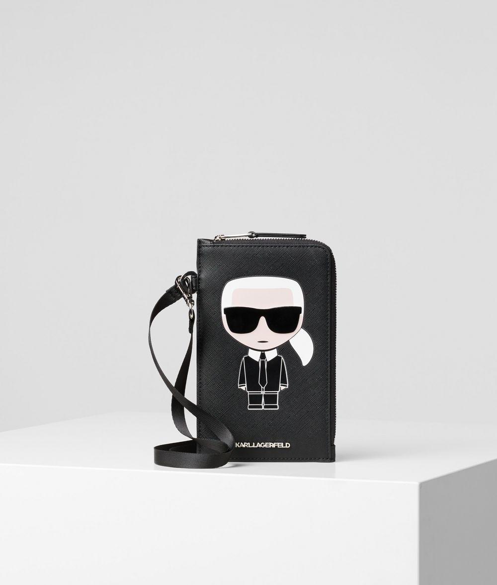 KARL LAGERFELD K/Ikonik Phone Holder Cardholder E f