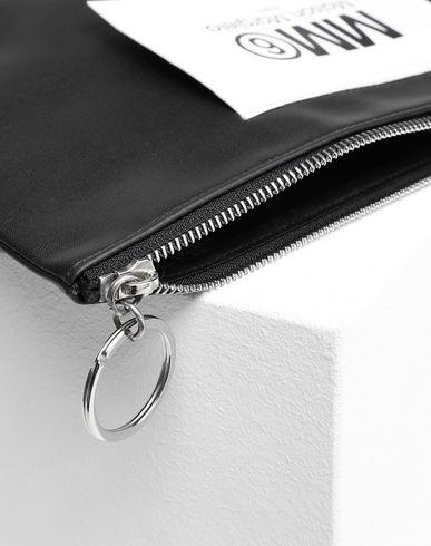 ACCESSORIES Logo tab zip leather pochette