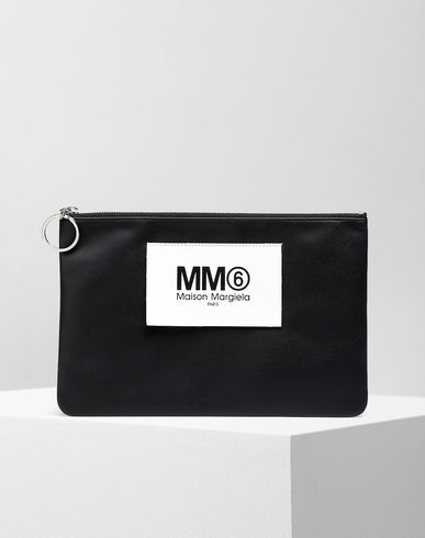 MM6 MAISON MARGIELA Key ring [*** pickupInStoreShipping_info ***] Logo tab zip leather pochette f