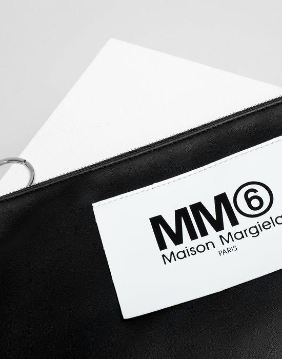 MM6 MAISON MARGIELA Logo tab zip leather pochette Key ring [*** pickupInStoreShipping_info ***] e