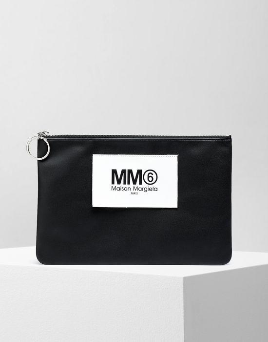 MM6 MAISON MARGIELA Logo tab zip leather pochette Key ring [*** pickupInStoreShipping_info ***] f