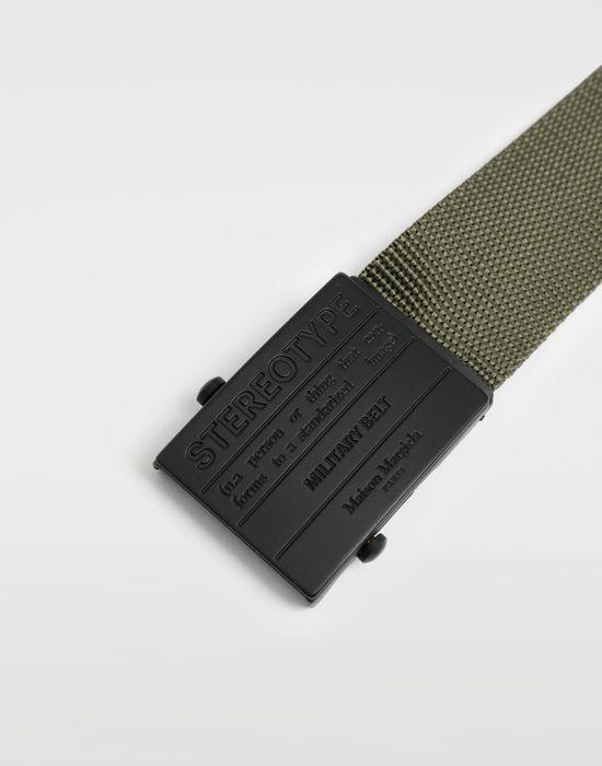 MAISON MARGIELA Stereotype military belt Belt [*** pickupInStoreShippingNotGuaranteed_info ***] d