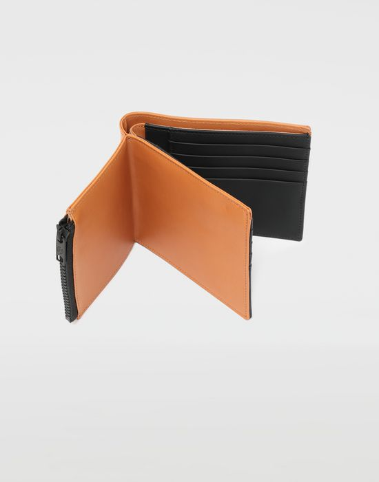 MAISON MARGIELA Small fold-out zipped leather wallet Wallet [*** pickupInStoreShippingNotGuaranteed_info ***] a