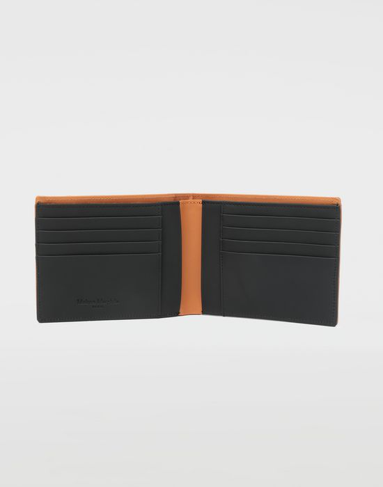 MAISON MARGIELA Small fold-out zipped leather wallet Wallet [*** pickupInStoreShippingNotGuaranteed_info ***] d