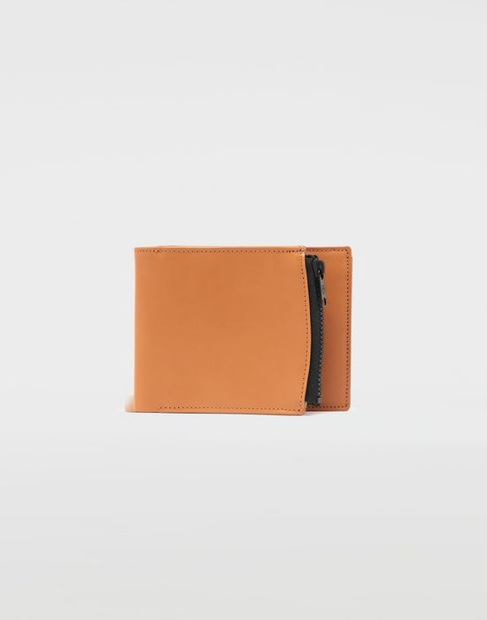 MAISON MARGIELA Small fold-out zipped leather wallet Wallet [*** pickupInStoreShippingNotGuaranteed_info ***] f
