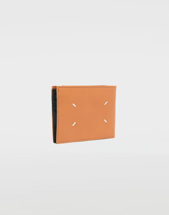 MAISON MARGIELA Small fold-out zipped leather wallet Wallet [*** pickupInStoreShippingNotGuaranteed_info ***] r