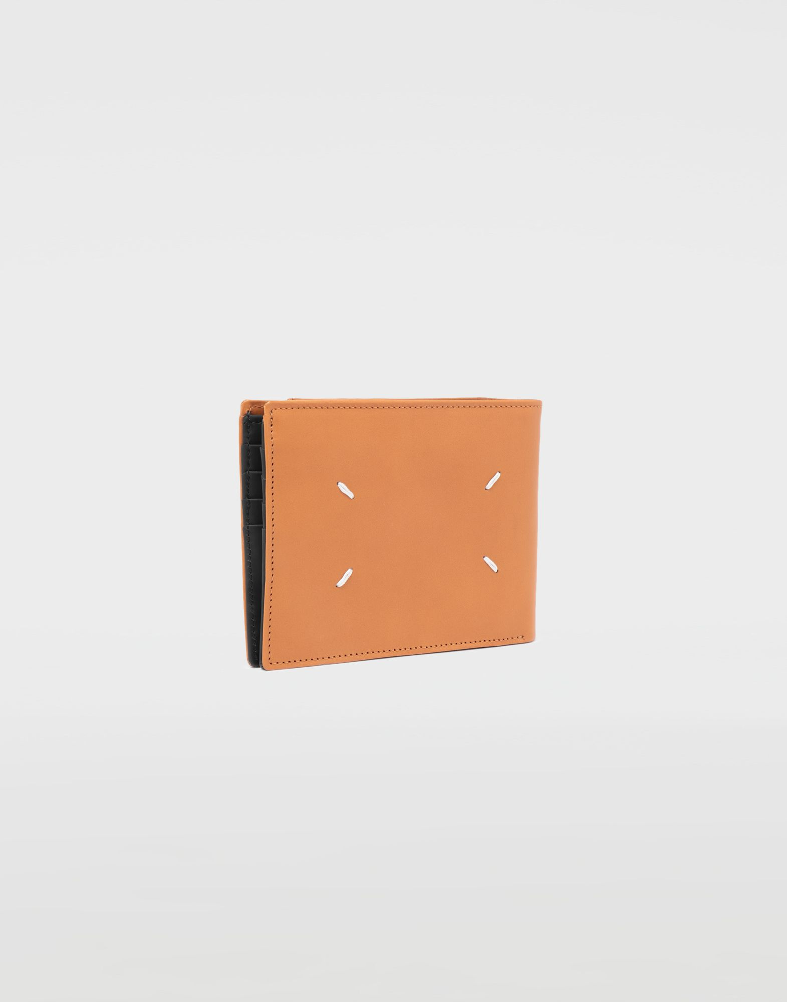 MAISON MARGIELA Small fold-out zipped leather wallet Wallet Man r