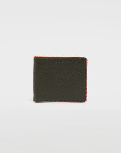 MAISON MARGIELA Wallet [*** pickupInStoreShippingNotGuaranteed_info ***] Piped fold-out leather wallet f