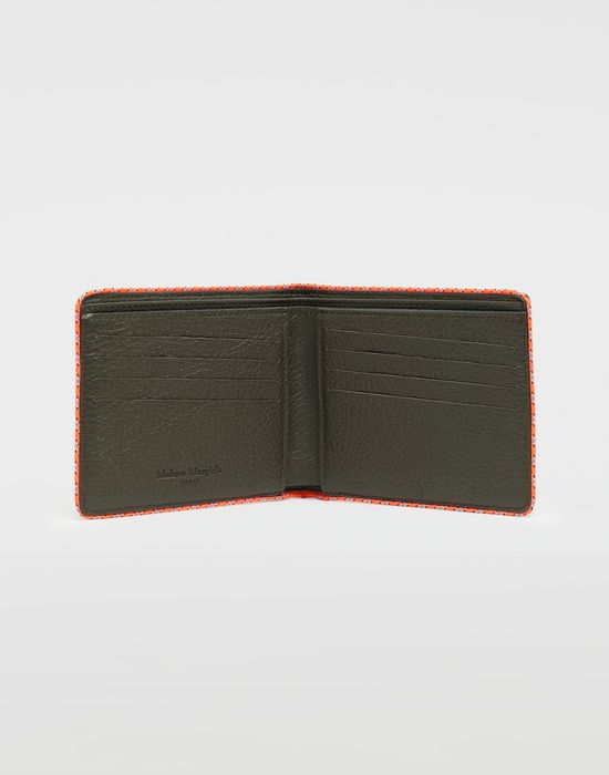 MAISON MARGIELA Piped fold-out leather wallet Wallet [*** pickupInStoreShippingNotGuaranteed_info ***] d
