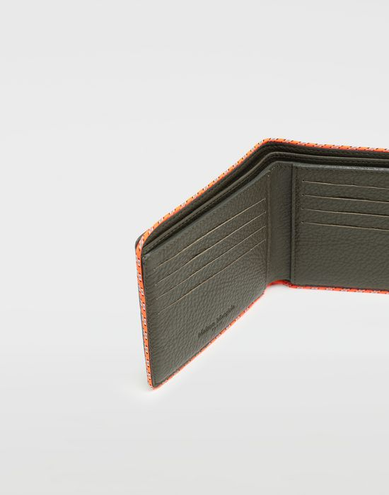 MAISON MARGIELA Piped fold-out leather wallet Wallet [*** pickupInStoreShippingNotGuaranteed_info ***] e