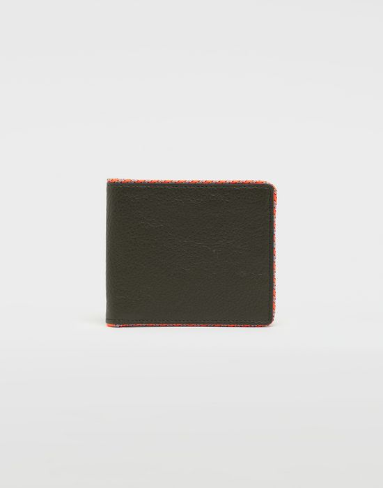 MAISON MARGIELA Piped fold-out leather wallet Wallet [*** pickupInStoreShippingNotGuaranteed_info ***] f