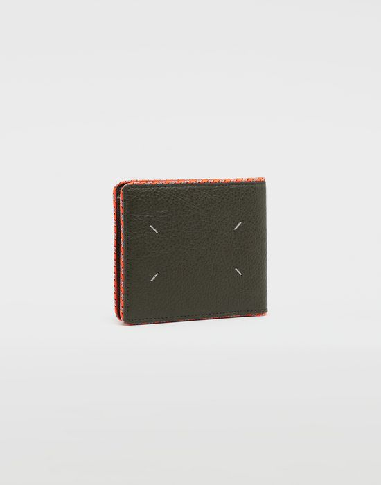 MAISON MARGIELA Piped fold-out leather wallet Wallet [*** pickupInStoreShippingNotGuaranteed_info ***] r