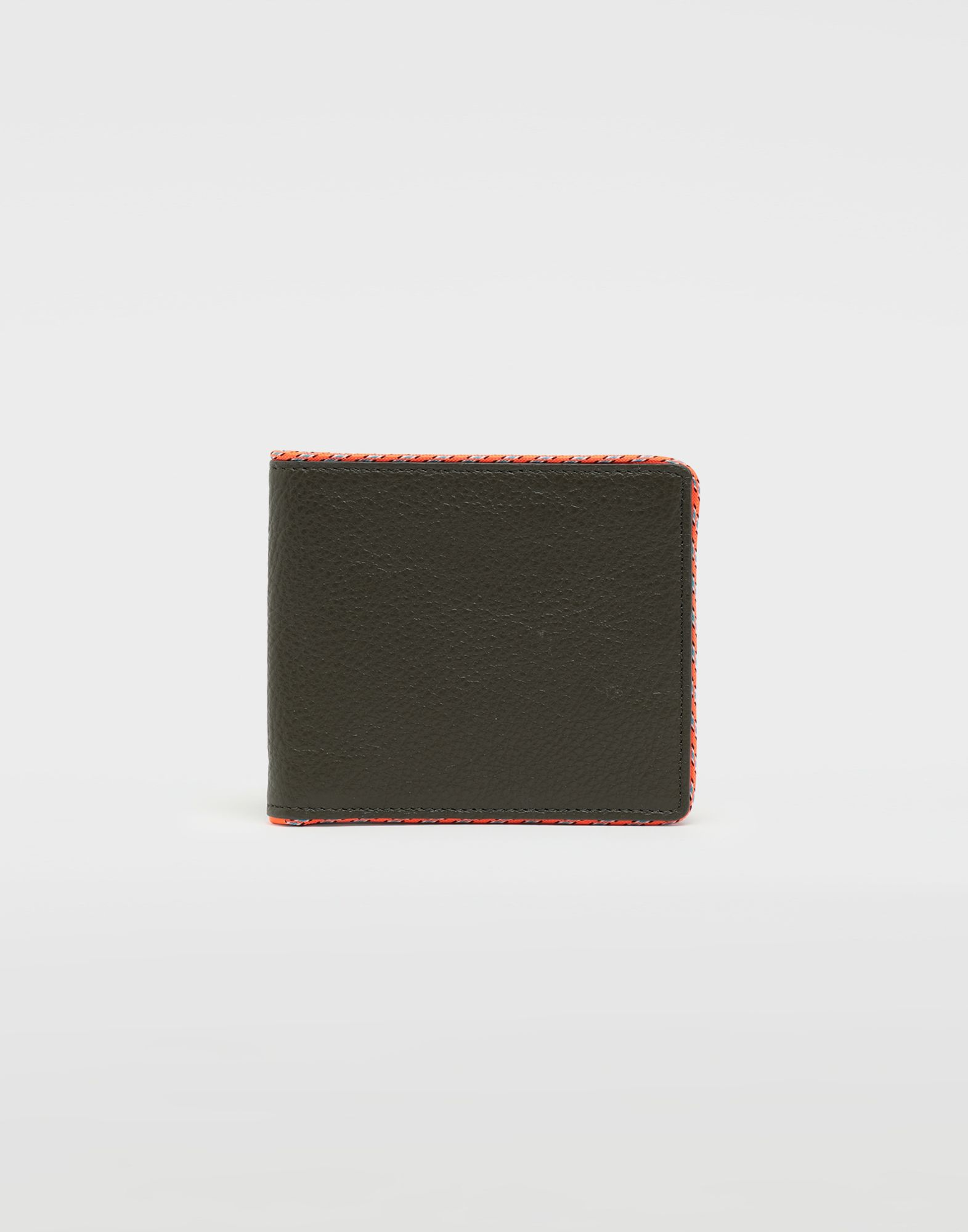 MAISON MARGIELA Piped fold-out leather wallet Wallet Man f
