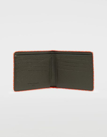 MAISON MARGIELA Piped fold-out leather wallet Wallet Man d