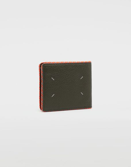 MAISON MARGIELA Piped fold-out leather wallet Wallet Man r