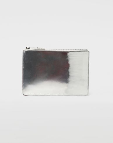 MAISON MARGIELA Wallets [*** pickupInStoreShippingNotGuaranteed_info ***] Brushed leather zip clutch f