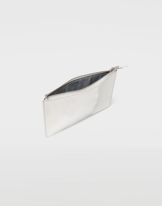 MAISON MARGIELA Brushed leather zip clutch Wallet [*** pickupInStoreShippingNotGuaranteed_info ***] a