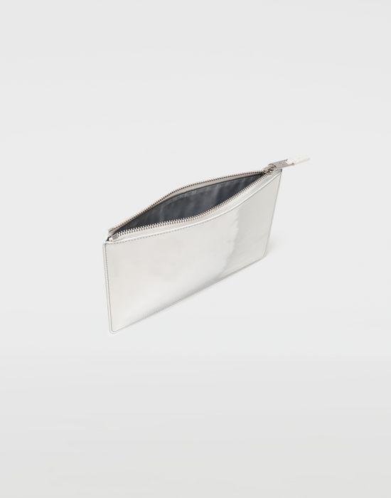 MAISON MARGIELA Brushed leather zip clutch Wallets [*** pickupInStoreShippingNotGuaranteed_info ***] a
