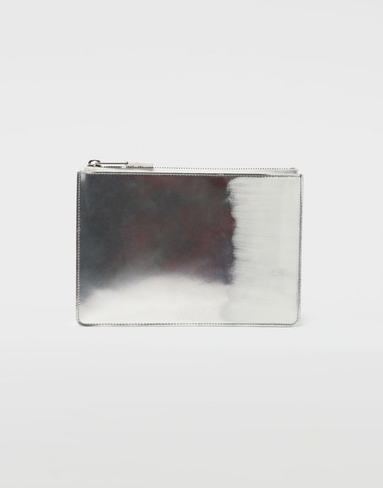 MAISON MARGIELA Brushed leather zip clutch Wallets [*** pickupInStoreShippingNotGuaranteed_info ***] f