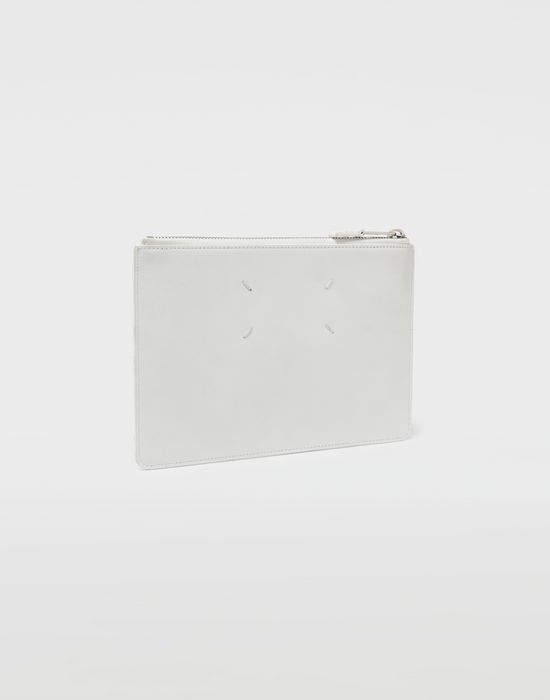 MAISON MARGIELA Brushed leather zip clutch Wallet [*** pickupInStoreShippingNotGuaranteed_info ***] r