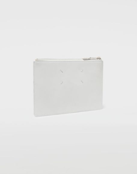 MAISON MARGIELA Brushed leather zip clutch Wallet Man r