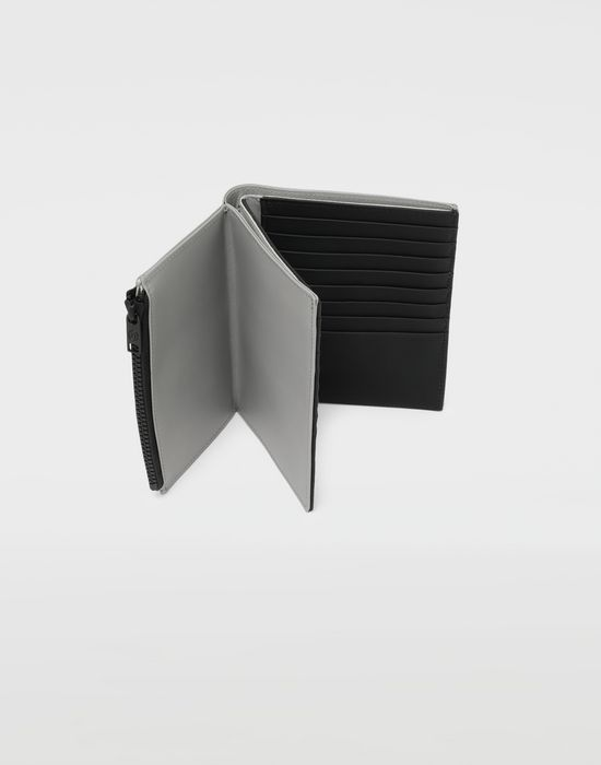 MAISON MARGIELA Large fold-out leather zipped wallet Wallets [*** pickupInStoreShippingNotGuaranteed_info ***] a