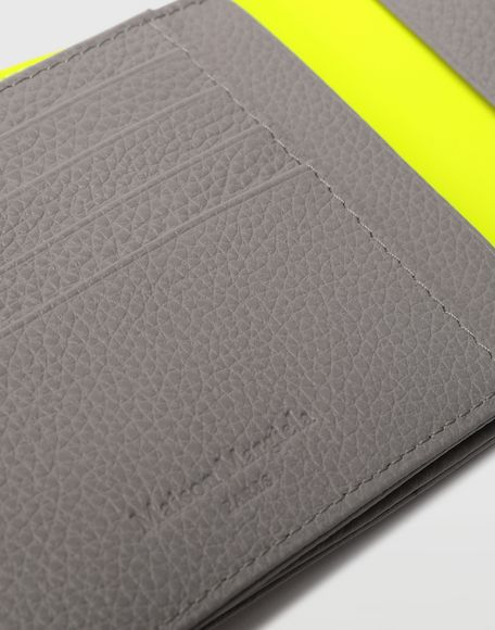 MAISON MARGIELA Small fold-out zipped leather wallet Wallet Man e