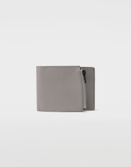 MAISON MARGIELA Small fold-out zipped leather wallet Wallet Man f