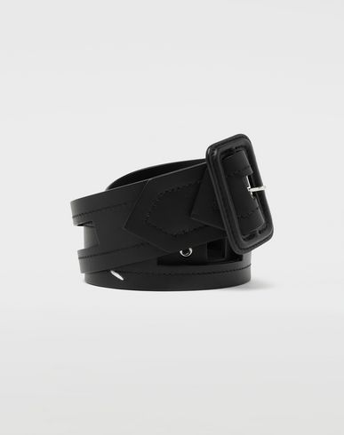 MAISON MARGIELA Belt [*** pickupInStoreShippingNotGuaranteed_info ***] Décortiqué buckled leather belt f
