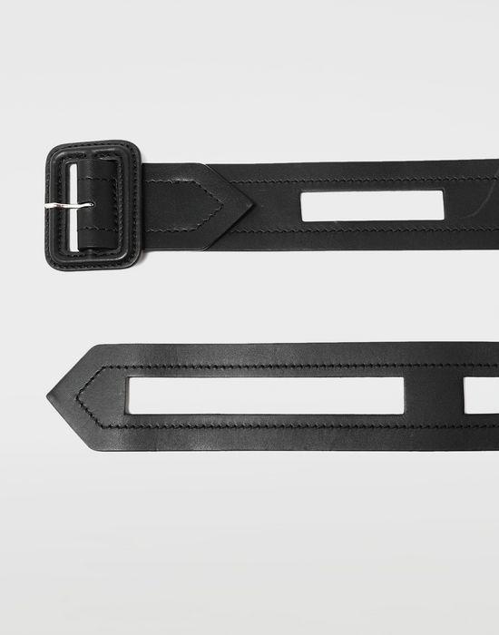 MAISON MARGIELA Décortiqué buckled leather belt Belt [*** pickupInStoreShippingNotGuaranteed_info ***] r