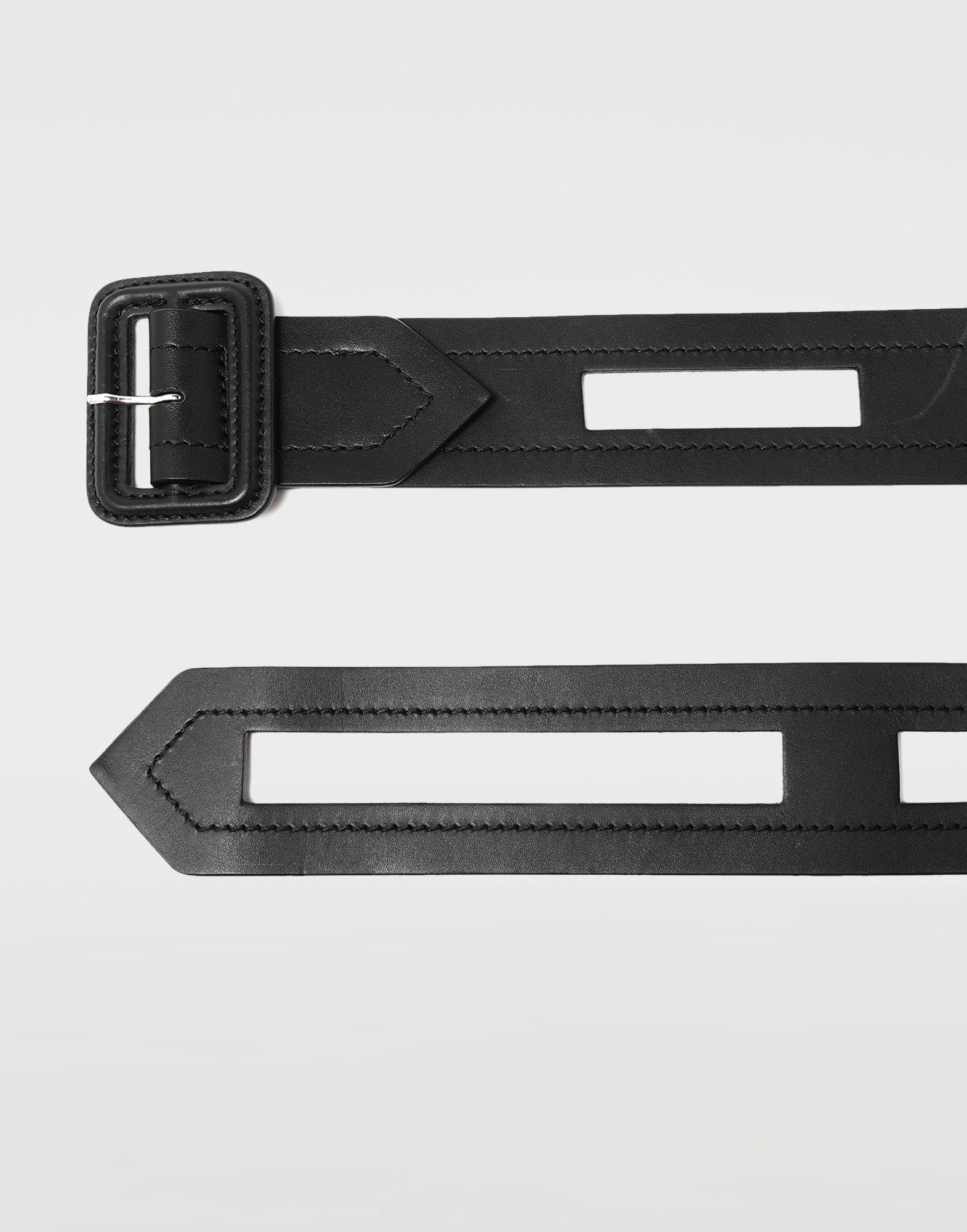 MAISON MARGIELA Décortiqué buckled leather belt Belt Man r
