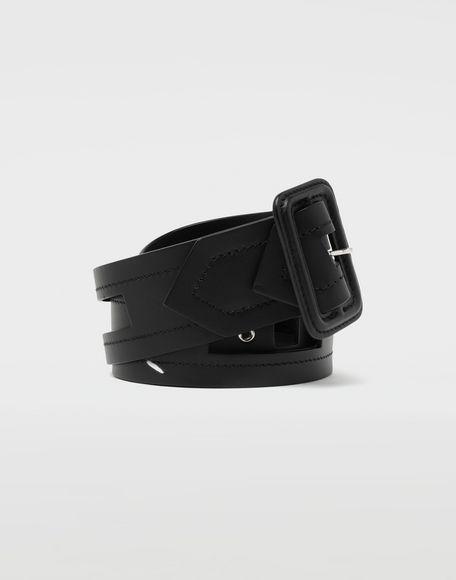 MAISON MARGIELA Décortiqué buckled leather belt Belt Man f