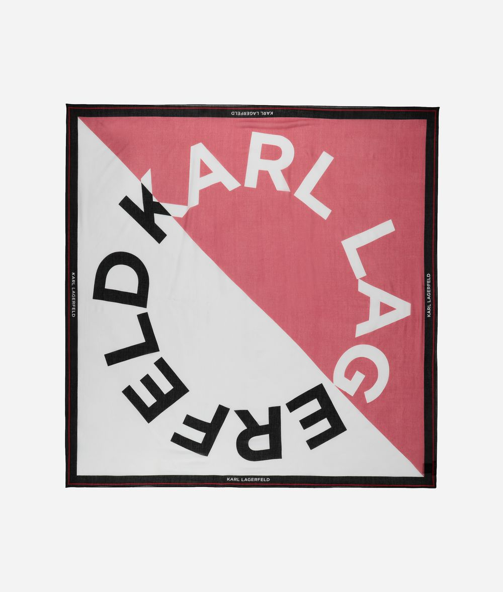 KARL LAGERFELD K/Sporty Halstuch mit Logo-Design Schal Damen f