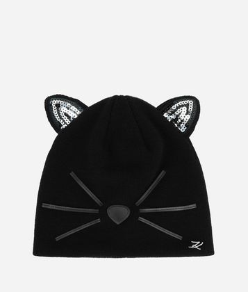 KARL LAGERFELD CHOUPETTE SEQUINED BEANIE