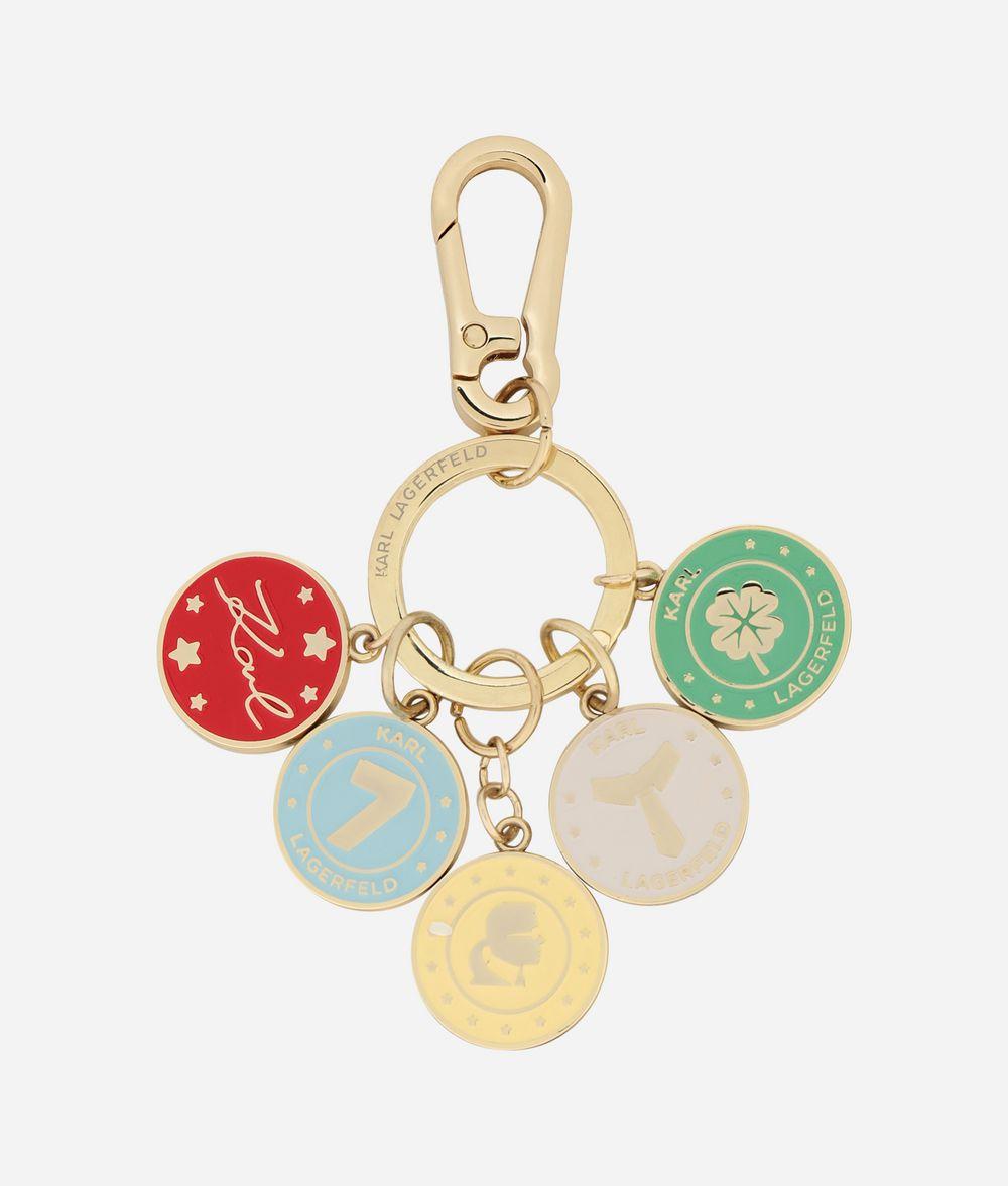 KARL LAGERFELD Schlüsselanhänger mit Metallmünzen Schlüsselanhänger Damen f