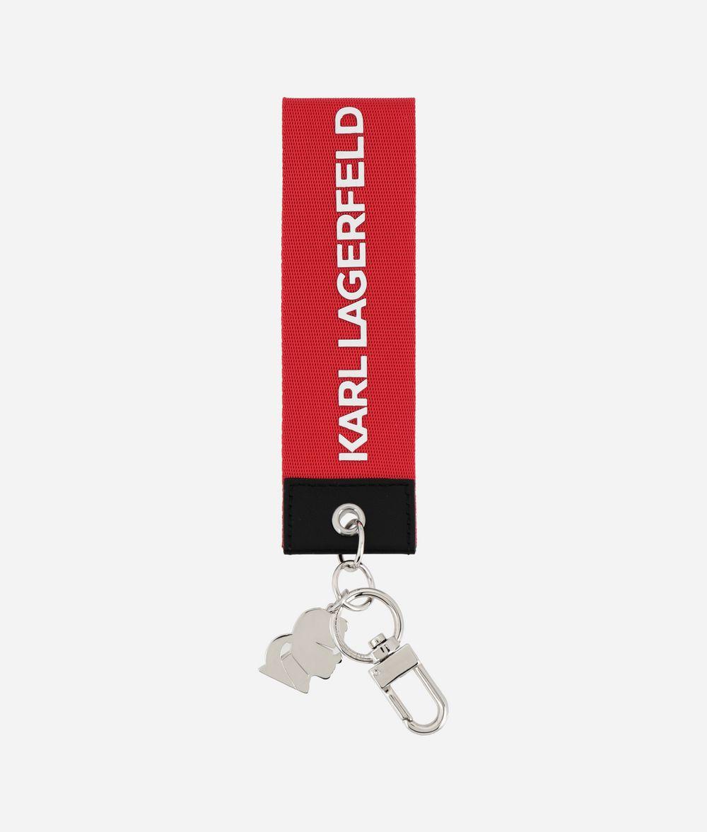 KARL LAGERFELD Étiquette en toile K/Logo Porte-clés Femme f