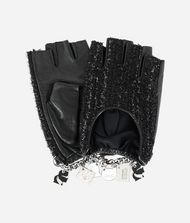 KARL LAGERFELD K/Charm Tweed Gloves 9_f